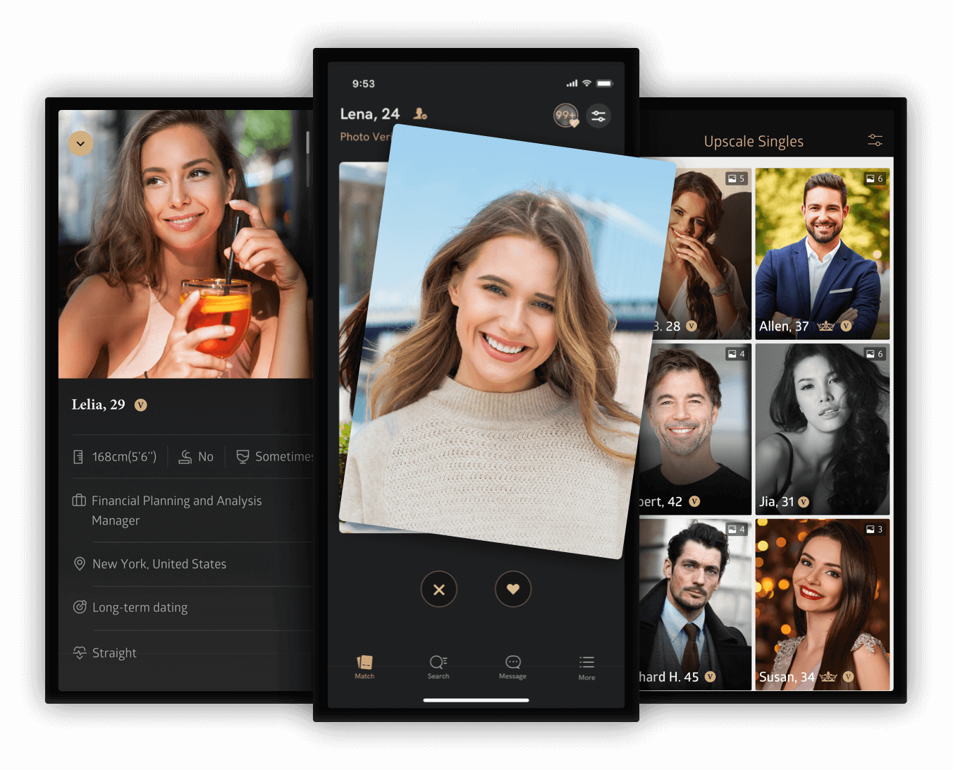 Meet new people on Luxy dating app